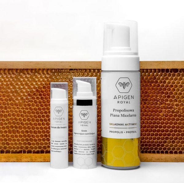 zestaw kosmetyków do pielegnacji apigenroyal z jadem pszczelim