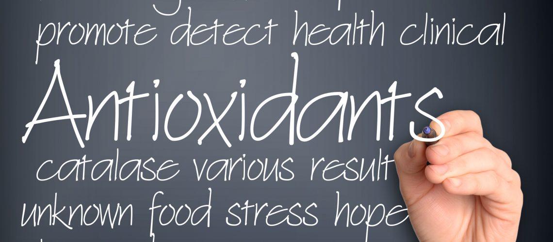 Antioxidants word cloud handwritten